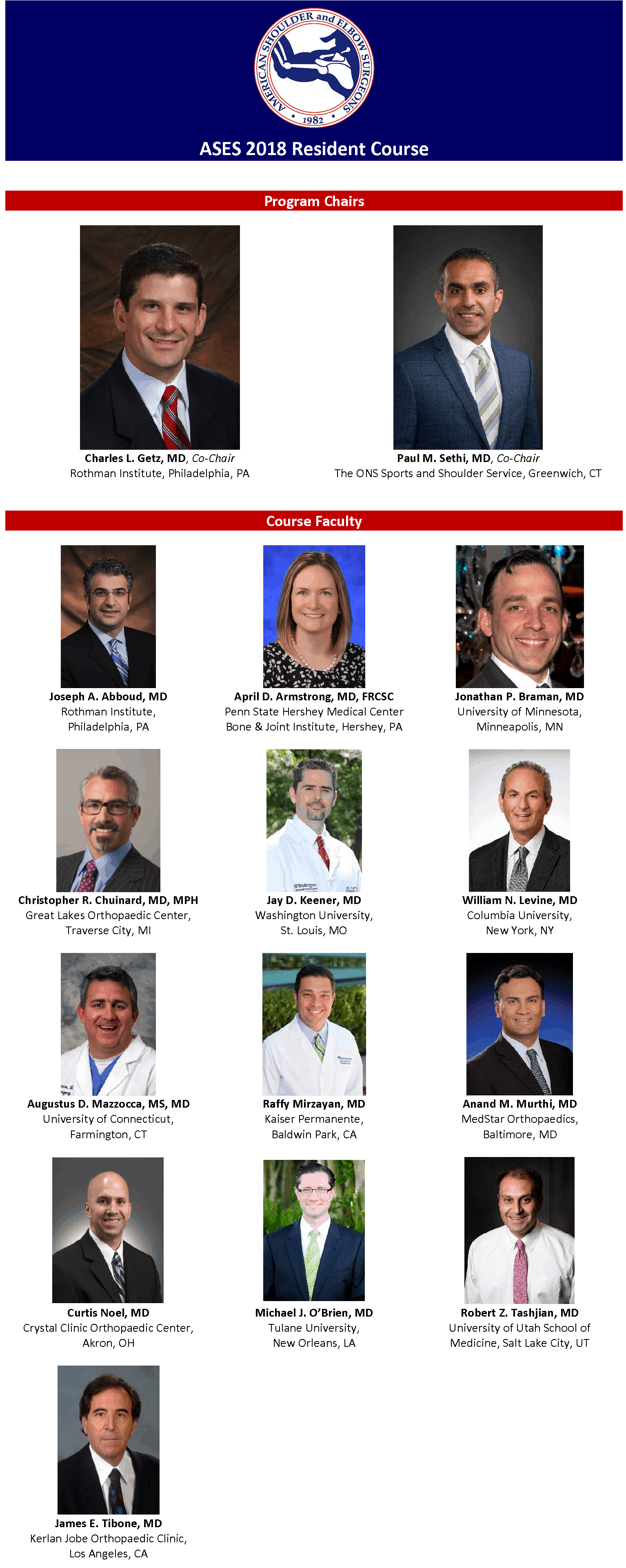 ASES 2018 Resident Course