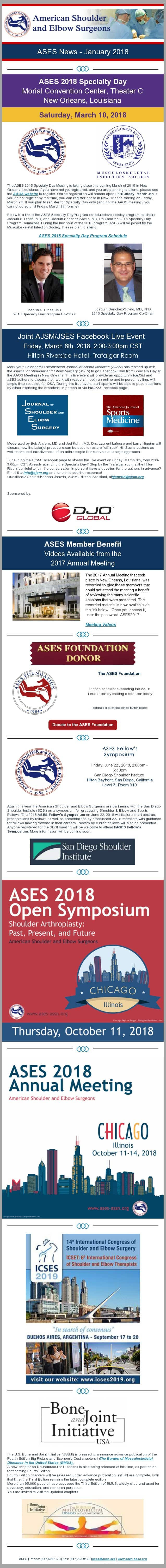 ASES News - January 2018