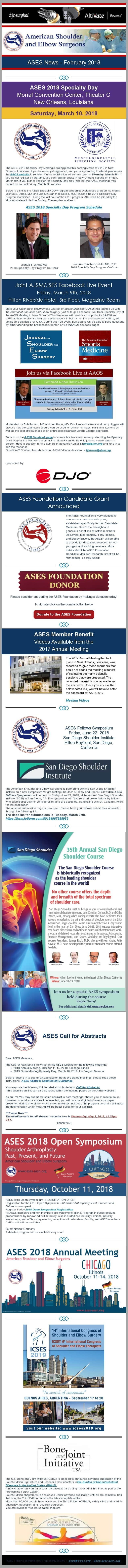 ASES News - February 2018