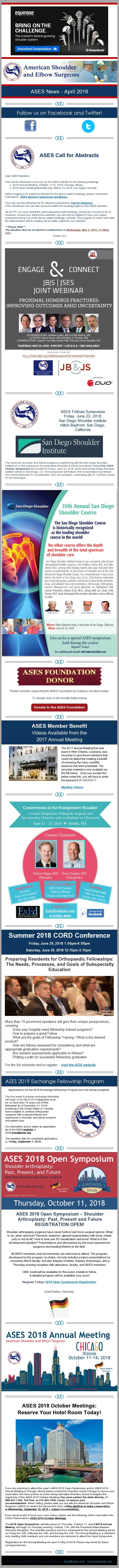 ASES News - April 2018