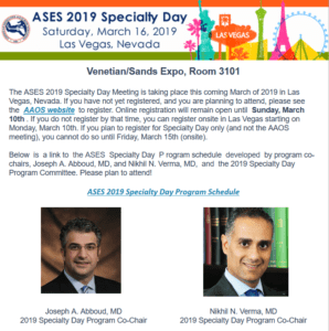 ASES News - January 2019